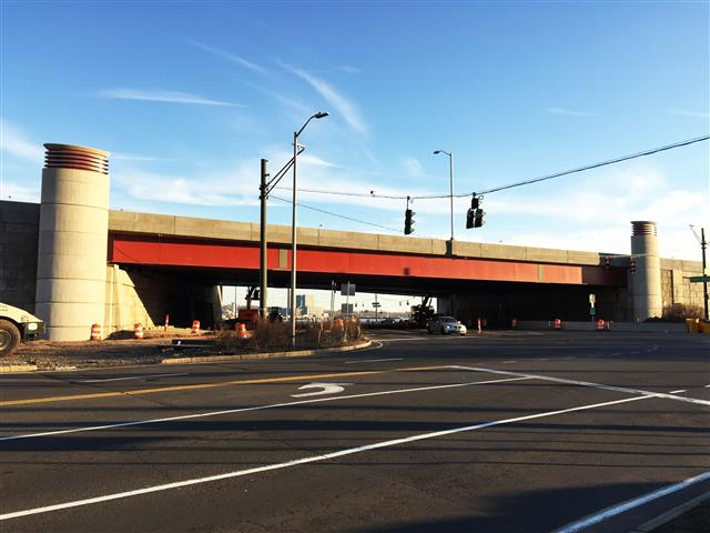 Completed I-95 SB bridge over Canal Dock Road